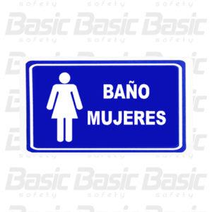 c13d15612a2f LETRERO BAÑO MUJERES – Basic Safety